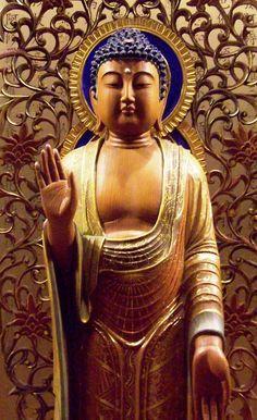 This Blessing Buddha Buddha Buddhism, Buddhist Art, Buda Zen, Spiritual Images, Spiritual Path, Amitabha Buddha, Buddhist Traditions, Buddhist Philosophy, Sacred Art