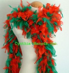 """65g 72""""Long Christmas Red Green Mix Chandelle Feather Boa for The Party Decor 