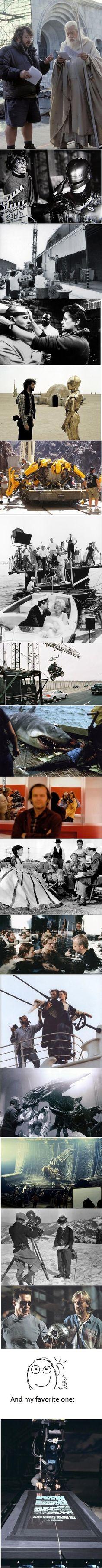 Behind some epic scenes