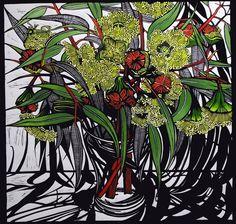 Artist Gail Kellet's linocut studies of the Australian flora and fauna where she lives on the Fleurieu Peninsula, Southern Australia. Australian Native Flowers, Australian Artists, Linocut Prints, Art Prints, Block Prints, Stencil Painting, Wood Engraving, Gravure, Watercolor Illustration