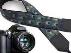 Peacock Camera strap. DSLR / SLR Camera Strap. Camera accessories. 00131