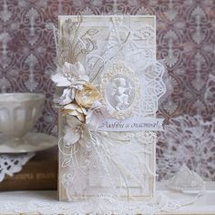 Свадебная открытка Shaby Chic, Shabby Chic Cards, Gift Envelope, Hat Pins, Wedding Anniversary, Wedding Cards, Stampin Up, Decorative Boxes, Card Making
