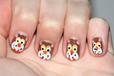 Nails Eulen Muster