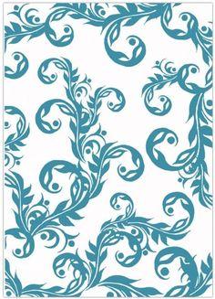 Sheena by Sheena Douglass Embossing Flolder - 5X7 - Heavy Swirls