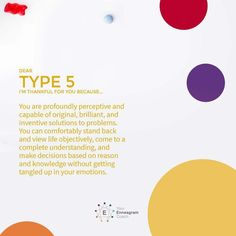 """""""Enneagram Type 5 - Thankful for You"""" Posters by EnneagramCoach Intj And Infj, Infj Type, Type 5 Enneagram, Intj Personality, Interpersonal Relationship, Emotional Intelligence, Mbti, Happy Thoughts, Self Development"""