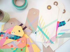 Masking tape gift tags