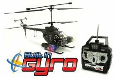 Defender 3.5CH GYRO Electric RTF Remote Control RC Helicopter (Color May Vary) by World Tech Toys. $55.98. Length: 18 Inches. Easy To Fly. 3.5 Channel Radio Control (GYRO). 2 Action Figure Soldiers. Durable Construction. Introducing the Defender 3.5CH GYRO Electric RTF RC Helicopter featuring the greatest advancement in Helicopter Technology, a Gyroscope, which has changed the Helicopter industry completely, making this RC Helicopter much easy to handle. This awesome helic...