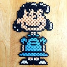 Lucy - Peanuts perler beads by Perler Bead Designs, Perler Bead Templates, Hama Beads Design, Diy Perler Beads, Perler Bead Art, Pearler Beads, Fuse Beads, Pearler Bead Patterns, Perler Patterns