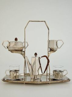 Tea and Coffee Set by Argentor, Vienna   ca.1918