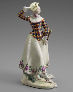 """When you know your outfit is on point... #MondayMotivation Pictured: """"Figure of Harlequine,"""" about 1756, modeled by Franz Anton Bustelli."""