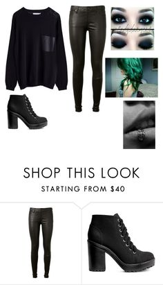 """""""Dear Diary by MukelWJ"""" by ladonna-paiz ❤ liked on Polyvore featuring AG Adriano Goldschmied and H&M"""