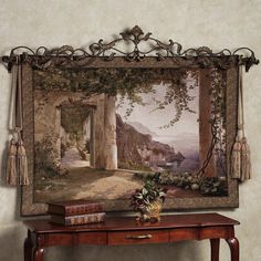 Envelop yourself in the history of Italy with the Amalfi Dai Cappuccini Wall Tapestry. Bring the beauty of antiquity to your decor with this jacquard-woven. Tuscan Design, Tuscan Style, Tuscan Furniture, Italy History, Water Color World Map, Tuscan House, Mediterranean Home Decor, Tuscan Decorating, Traditional Decor
