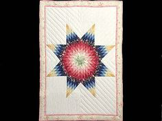 Lone Star Quilt -- Handmade Amish Quilts - an idea for straight line quilting my lone star quilt.
