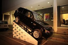 Black Range Rover from the Land Rover Cape Fear Dealership at the Wilmington Theater Awards event.