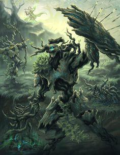 [Secrets of the Fae Folk] Dryads - worldbuilding Fantasy Beasts, Fantasy Battle, Fantasy Races, Fantasy Rpg, Dark Fantasy Art, Warhammer Art, Warhammer Fantasy, Black Anime Characters, Fantasy Characters