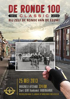 De Ronde 100 Classic, an amateur ride of 324km, the same distance of the original 1913 race, run as part of the celebrations to mark 100 years of the Ronde van Vlaanderen.