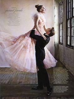 So pretty and feminine!  #ballet #wedding #blush