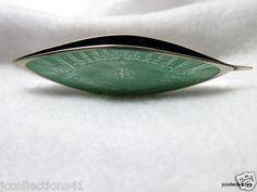 Guilloche Tatting Needle 1930s Sterling & Enamel (02/12/2011)