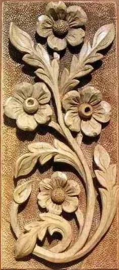Simple Wood Carving, Dremel Wood Carving, Wood Carving Art, Carved Wood Wall Art, Carved Wood Signs, Wood Carving Designs, Wood Carving Patterns, Baroque Decor, Wooden Wall Panels