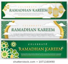 Find Set Ramadhan Banner Template stock images in HD and millions of other royalty-free stock photos, illustrations and vectors in the Shutterstock collection. Thousands of new, high-quality pictures added every day. Eid Background, Background Design Vector, Vector Design, New Year Banner, Holiday Banner, Certificate Design Template, Banner Template, Ied Mubarak, Happy Islamic New Year