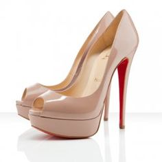 Christian Louboutin Nude Leather Peeps