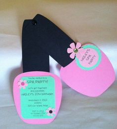 SPA PARTY INVITATIONS - Nail Polish Invitations Set of 8                                                                                                                                                                                 Más
