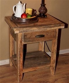 Prairie Wind 1 Drawer Nightstand   The Log Furniture Store Rustic Log  Furniture, Pine Furniture