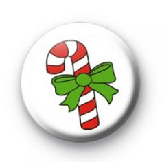 Cute Candy Cane Badge  Christmas button badges