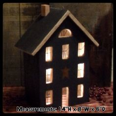 Saltbox Houses, Wood Houses, Primitive Wood Crafts, Country Primitive, Salt Box, Miniature Rooms, House In The Woods, Wood Work, Handmade Wooden