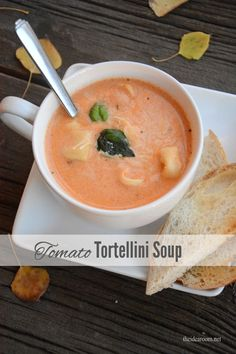 Tomato Tortellini Soup Recipe | theidearoom.net