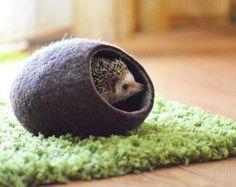 Lit hérisson / grotte de petit animal / petit lit pour animaux de compagnie / feutré pet house / petits meubles pour animaux de compagnie / furet cocoon / pochette de sieste / maison hamster.