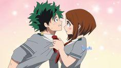 Ochako and Izuku by S4chi