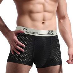 Fashion ZK Plus Size Mens Antibacterial Breathable Mesh U convex Pouch Boxers Casual Underwear - NewChic Mobile Men Online, Boxers, Chic Outfits, Latest Fashion Trends, Plus Size Fashion, Men Dress, Pouch, Mesh, Mens Fashion