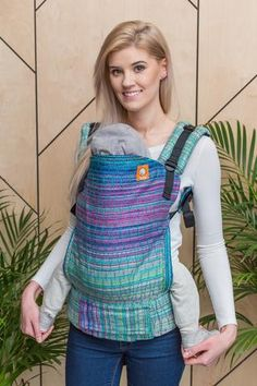 Oolaloom Sugar & Spice Spring Green Weft Crackle Weave TULA BABY CARRIER