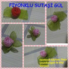 &Sutaşı&FİYONK ÜZERİNE SUTAŞI GÜL YAPIMI&Organze Kurdele oyaları&Forex flower,health flower - YouTube