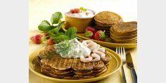 Valmista Helppo ja hyvä vohvelitaikina tällä reseptillä. Helposti parasta! Kermit, Pancakes, Appetizers, Breakfast, Desserts, Food, Breakfast Cafe, Tailgate Desserts, Deserts