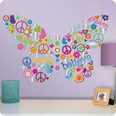 Butterfly Collage Sticker Wall Decals | Lot 26 Studio