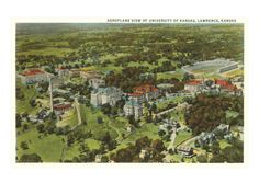 Aerial View, University of Kansas, Lawrence, Kansas