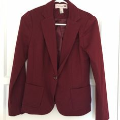 Forever 21 burgundy blazer ~Forever 21 burgundy blazer, like new, size small Forever 21 Jackets & Coats Blazers