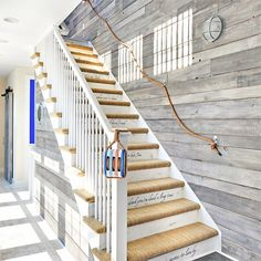 I think the idea of incorporating rope into a staircase is brilliant. A   rope    bannister adds a decorative touch to a plain staircase, ...