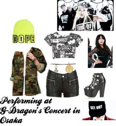 """Performing at G-Dragon's concert at Osaka Dome 2013"" by dopekawaiixoxo on Polyvore"