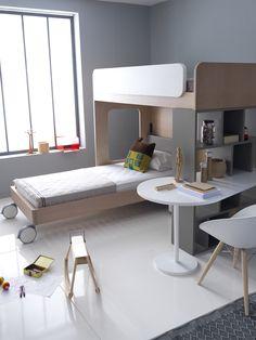 STATION bed for 2 Kid Beds, Bunk Beds, Kidsroom, Kids Bedroom, Corner Desk, Interior Design, House, Furniture, Home Decor