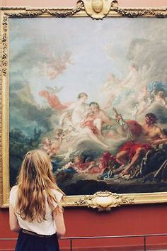 This is a picture of Nora gazing at a piece of artwork at the art museum we went to. I like this picture but the way the light plays on Nora's hair almost makes her look as blonde as Jessica.