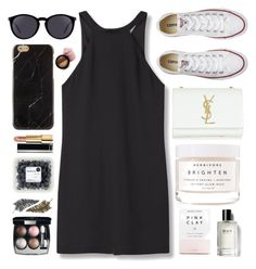 """""""We were both young when I first saw you"""" by itaylorswift13 ❤ liked on Polyvore featuring MANGO, Converse, Yves Saint Laurent, Chanel, Herbivore, Bobbi Brown Cosmetics and Paperself"""