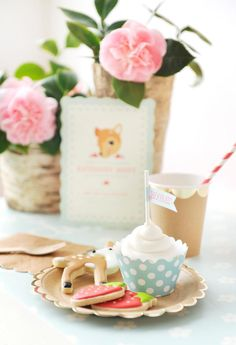 Sweets from Vintage Floral Woodland Baby Shower at Kara's Party Ideas. See more at karaspartyideas.com!