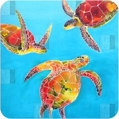 Clara Nilles Tie Dye Sea Turtles