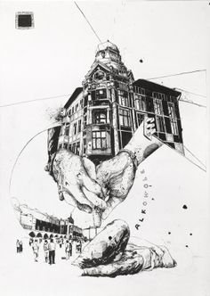 Selected Drawings by Simon Prades, via Behance