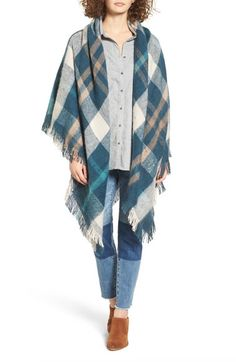Treasure&Bond Plaid Blanket Wrap available at #Nordstrom