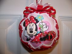 Minnie Mouse Fabric Quilted Ornament/Disney by BayCountryCreations, $14.00