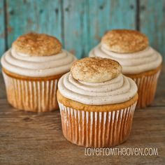 Snickerdoodle Cookie Cupcakes